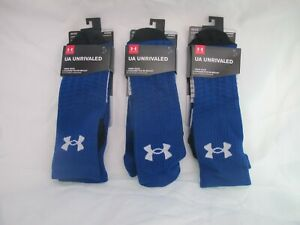 UNDER ARMOUR UA Unrivaled Crew Socks, 3 pack | Royal Blue | New in Box