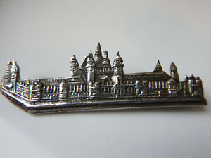 ANTIQUE SILVER B'HAM 1901 C & N HOUSES of PARLIAMENT ? BUILDINGS BROOCH PIN