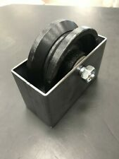 4x 1 12 V Groove 34 Steel Caster Wheel 500lbs Rolling Gate Greasable Withbox