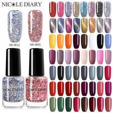 NICOLE DIARY 6ml Colorful Nail Polish Shining  & Magnetic Nail Art Varnish