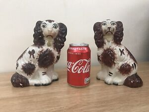Pair Of Small Staffordshire Spaniels