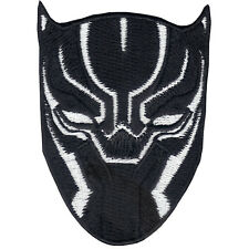 Marvel Avenger BLACK PANTHER White Mask Iron On logo Patch Wakanda Okoye DVD
