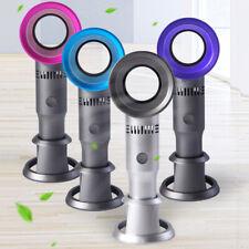 USB Rechargeable Quiet Desk Cooler Portable Handheld Fan Bladeless Like Dyson