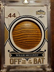 2020 Leaf WILLIE McCOVEY #OB-58 Lumber Kings Off The Game Used Bat Knob #d 1/1