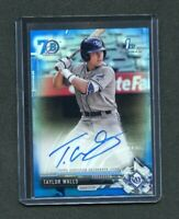2017 BOWMAN CHROME DRAFT Taylor Walls Rookie SP Auto #44/70 Rays RC