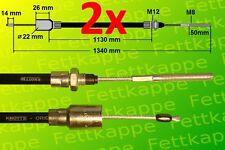 2x original Knott cable de freno 33921-1.13 HL 1130mm GL 1340mm colgante