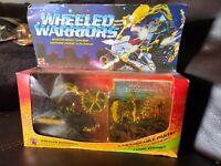 👀 1984 WHEELED WARRIORS SAW BOSS Mattel Vintage Toy MOC Sealed Never Opened