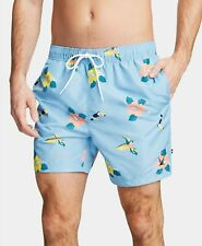 Nautica Men's Toucan Parrot Floral 6'' Inseam Swim Trunks, Light Blue
