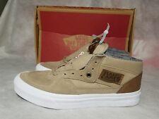New Vans Half Cab C&L Men Size 6.5 Suede Leather White Brown Canvas Skate Shoe