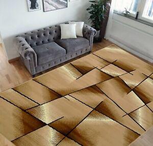 Square Pattern Area Rug 5x7 Geometric Pattern Modern Beige & Ivorycarpet...