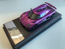 Frontiart 1:43 Koenigsegg Agera R Purple Limited Car Diecast Resin Model F014-16