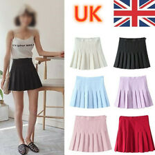Girls School Uniform Skater Skirt Kids High Waist Pleated Skirt Tennis for Women