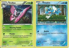 POKEMON XY-10 FATES COLLIDE BOTH FROAKIE XY138 & VIVILLON XY137 HOLO PROMO CARDS