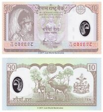 Nepal 10 Rupees 2005 Polymer P-54 Banknotes UNC