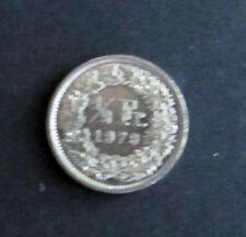 Münze 1/2 Schweizer Franken 1979 aus Umlauf gültiges Zahlungsmittel Sammler