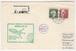 1970 Apr 11th. Apollo 13 Cover. NASA Tracking Station, Berlin.
