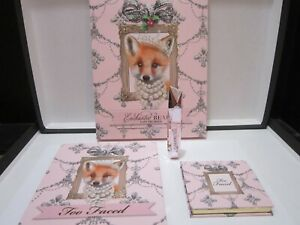 TOO FACED ENCHANTED BEAUTY SET~FOXY NEUTRALS~EYESHADOW+BLUSH+DAMN GIRL MASCARA!