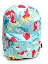 """Disney Princess* Little Mermaid Ariel 16"""" All Over Print School BackPack-0230"""