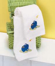 NEW~SET of 2 FROG & DRAGONFLY Bathroom HAND TOWELS Bath Bathroom Home Decor~Gift