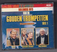 CD : De 42 Grootste Hollandse Hits Van De Gouden Trompetten - Deel 1 3CD Box