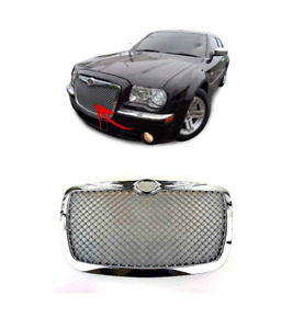 FOR CHRYSLER 300C 04-11 BENTLEY LOOK FRONT CENTER GRILLE MESH STYLE CHROME