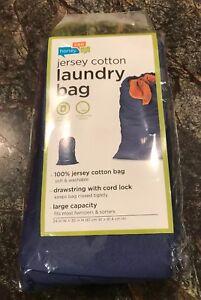 HONEY-CAN-DO Laundry Bag, Blue, LBG-01141, Blue