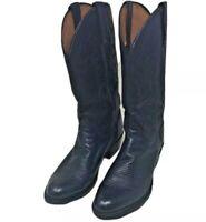 Lucchese Men's Carson Lonestar Calf Cowboy Riding Boot Black US Size 10 1/2 D