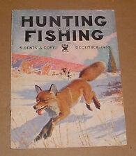 12/1933 Hunting And Fishing Magazine