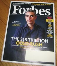 BRAND NEW Forbes March 3 2014, PayPal's David Marcus SPECIAL ISSUE-Retire Rich