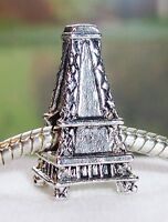Eiffel Tower Paris France Landmark Trip Travel Charm for European Bead Bracelets