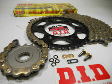 BMW F650 Dakar 1999-00 DID 520 Gold X-Ring chain and sprockets kit OEM,QA or Fwy