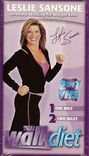 LESLIE SANSONE - THE WALK DIET - IN HOME WALKING FOR WEIGHT LOSS - VHS - NEW