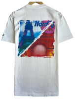 Hard Rock Cafe Paris Men's Size Small Double Sided Eiffel Tower White T-Shirt