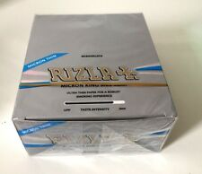 RIZLA MICRON SILVER ULTRA THIN SLIM KING SIZE ROLLING PAPERS BOOKLETS ORIGINAL