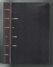STENDHAL LE ROUGE ET LE NOIR/ AMIEL 1954 CLUB FRANCAIS DU LIVRE-PORTIQUES