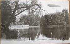 Airship/Dirigible 'Clement-Bayard' 1910 French Aviation Postcard-Parc Villeneuve