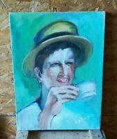 Peinture Acrylique sur Toile Signé Peintre Contemporain TBE !