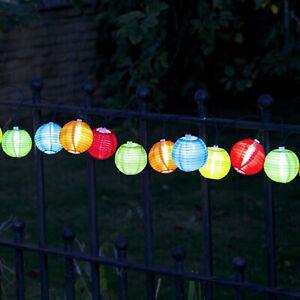 Solar Chinese Lantern Fairy Lights - party, lantern, mini, multi coloured, garde
