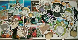 Totoro Spirited Away No Face Ponyo Howl Sticker Bundles Ghibli Mononoke Kiki