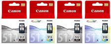 2x Canon PG512 Black & CL513 Colour Ink Cartridges For PIXMA MP260 Printer