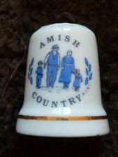 Collectable bone china thimble Amish Country Elkhart Indiana America USA