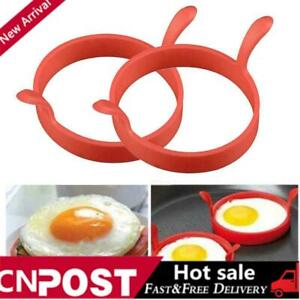 4X Silicone Round Omelette Fry Egg Ring Pancake Poach Mold Kitchen Cooking NICE