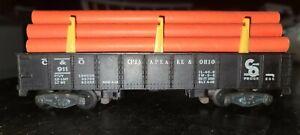 American Flyer 911 C&O Chessie Hopper Orange Pipe Load Chesapeake & Ohio, LT 838