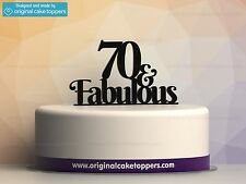 """""""70 & fabulous"""" Black - 70th Birthday Cake Topper - Made by OriginalCakeToppers"""