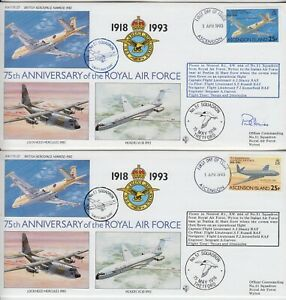 ASCENSION ISLANDS 1993 75th ANNIVER of the ROYAL AIR FORCE official illust cover