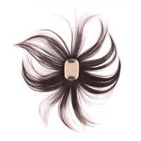 Silk Base Human Hair Topper Men Women Hand Made Toupee Straight Crown Hairpiece
