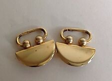 Vintage 1980s Gold Toned Bull Ring Shoe Clips Buckles Decorations