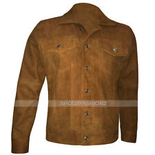 X-MEN 2017 LOGAN  WOLVERINE HUGH JACKMAN BROWN SUEDE LEATHER JACKET
