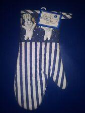 New listing Nwt 1997 Pillsbury Doughboy Poppin' Fresh Blue/White Oven Mitt