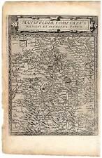 SEHR SELTEN! - Grafschaft Mansfeld-Sachsen-Anhalt Karte - de Jode 1593